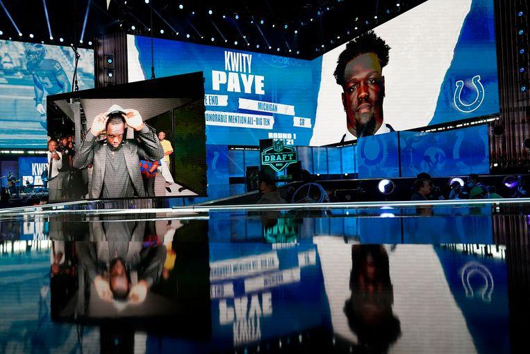 Kwity Paye wordt gekozen door Indianapolis Colts.  Beeld AP
