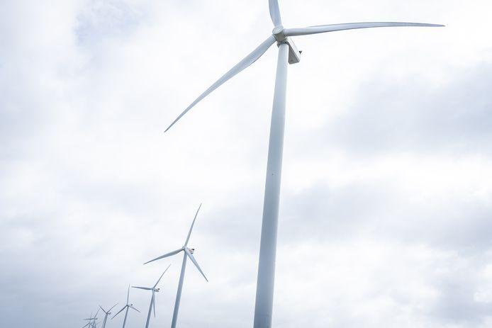 Windmolens in het noorden van het land.