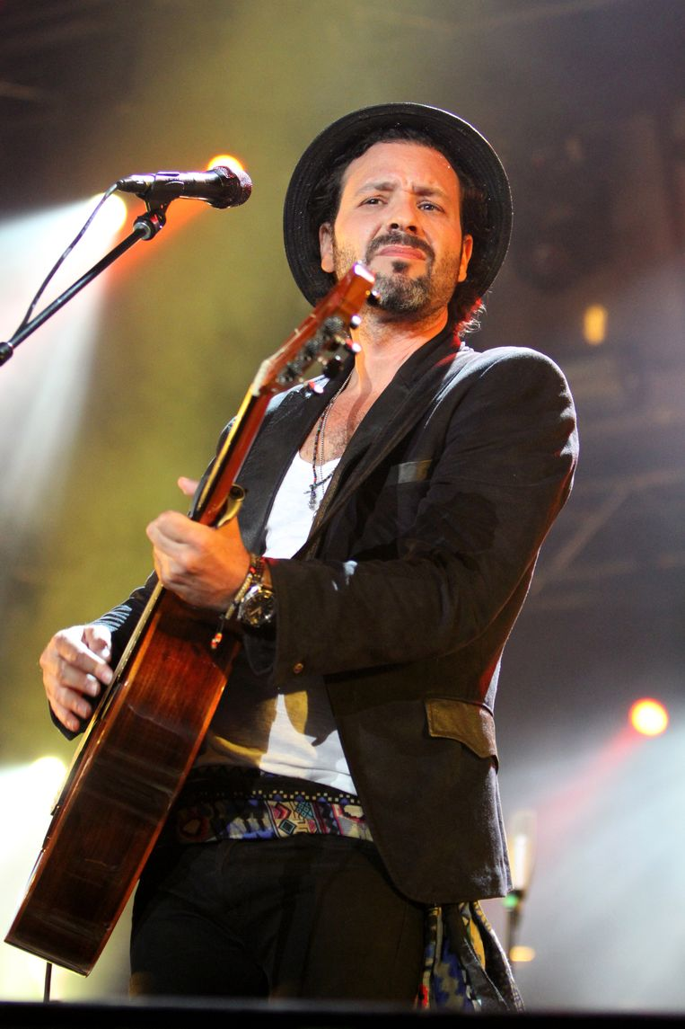 Adam Cohen in Montreal, Canada, in juli 2015. Beeld Getty Images