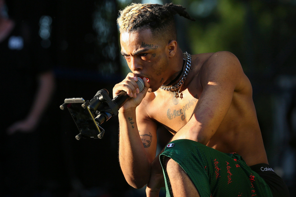 XXXTentacion performs during the second day of the Rolling Loud Festival in downtown Miami on Saturday, May 6, 2017. (Matias J. Ocner/Miami Herald/TNS) Beeld BrunoPress/Abaca Press