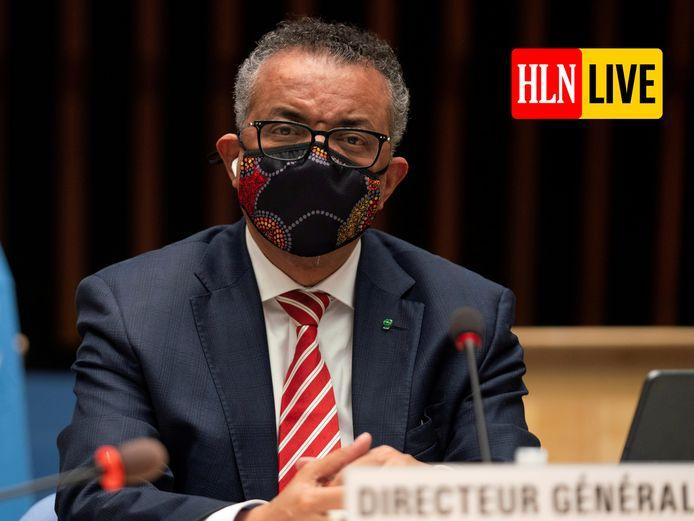 Tedros Adhanom Ghebreyesus, de topman van de Wereldgezondheidsorganisatie (WHO).