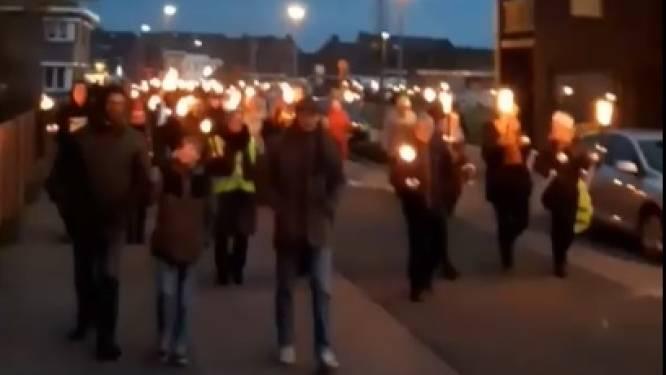Mars tegen coronamaatregelen in Geel: honderden deelnemers houden geen afstand en dragen geen masker