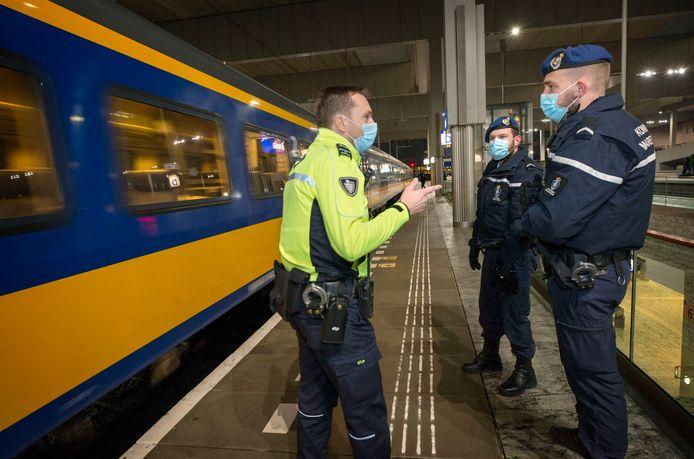 Controle op het NS-station in Breda.