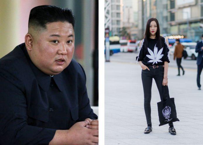 Links: de Noord-Koreaanse leider Kim Jong-un.
