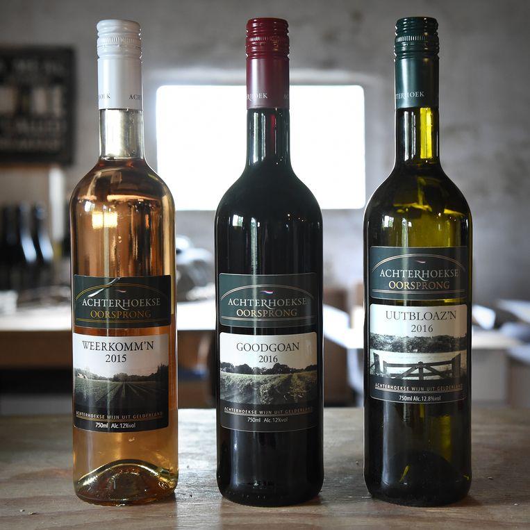 Wijn van de Achterhoekse Wijnbouwers. Beeld Marcel van den Bergh / de Volkskrant