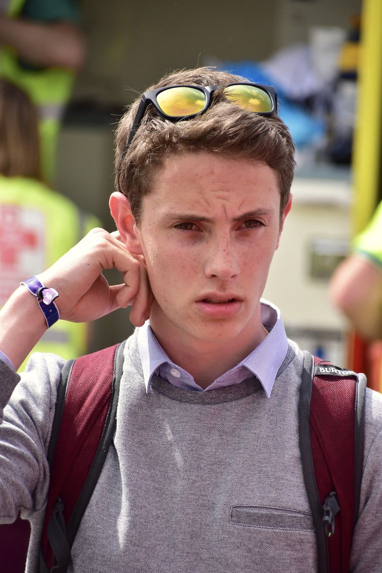 Bryan Delefortrie (17) was na afloop van het ongeval erg onder de indruk