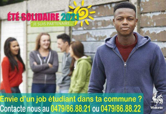 Affiches Été Solidaire à Charleroi