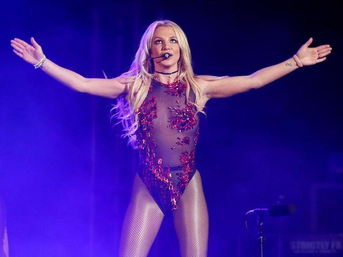Britney Spears tijdens een optreden in 2016.