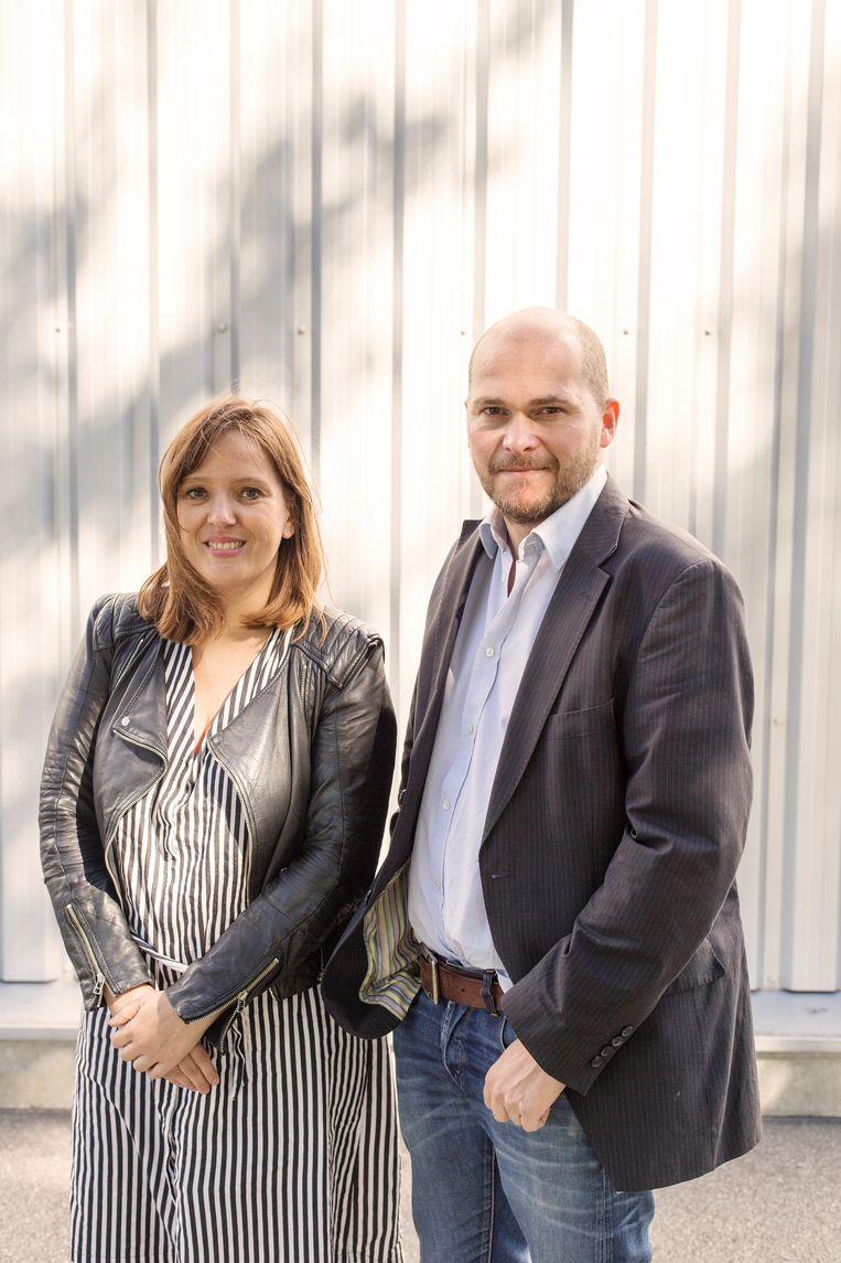 Kirsten Bertrand en Bart Eeckhout. Beeld De Persgroep