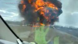 Straffe beelden: brandende tankwagen ontploft plots