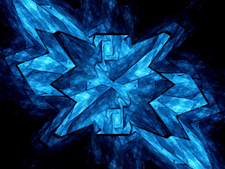 Sterke uitvergroting van een blauw licht producerend nanokristal.