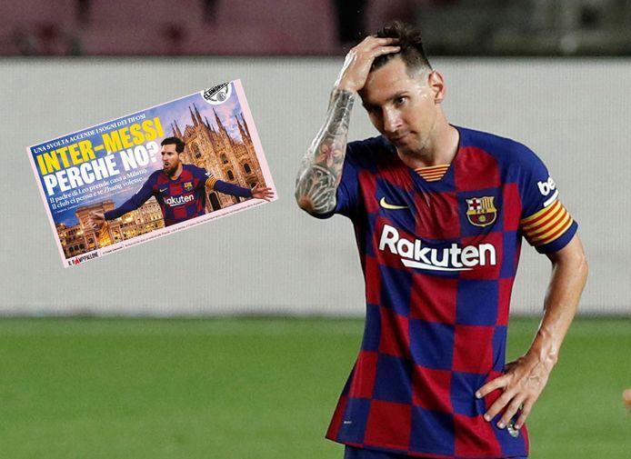Inter-coach Antonio Conte verwees de laatste geruchten rond Lionel Messi naar het rijk der fabelen.