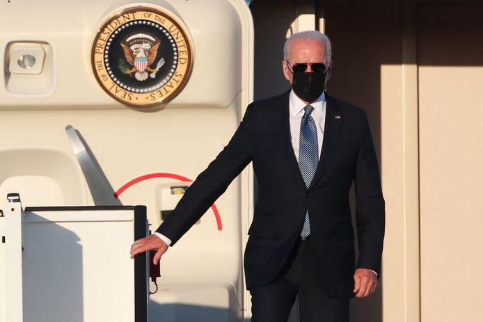 Joe Biden stapt uit de Air Force One