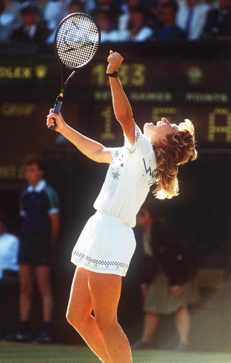 Steffi Graf, winnaar van het vrouwentoernooi in 1988.  Beeld EPA