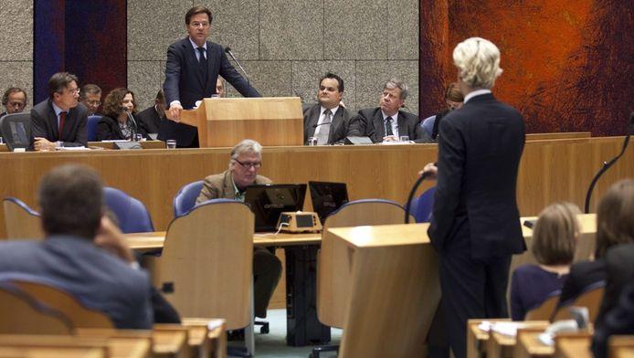 De confrontatie tussen Mark Rutte en Geert Wilders