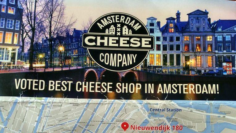 De flyer van Amsterdam Cheese Company Beeld Maarten Brante