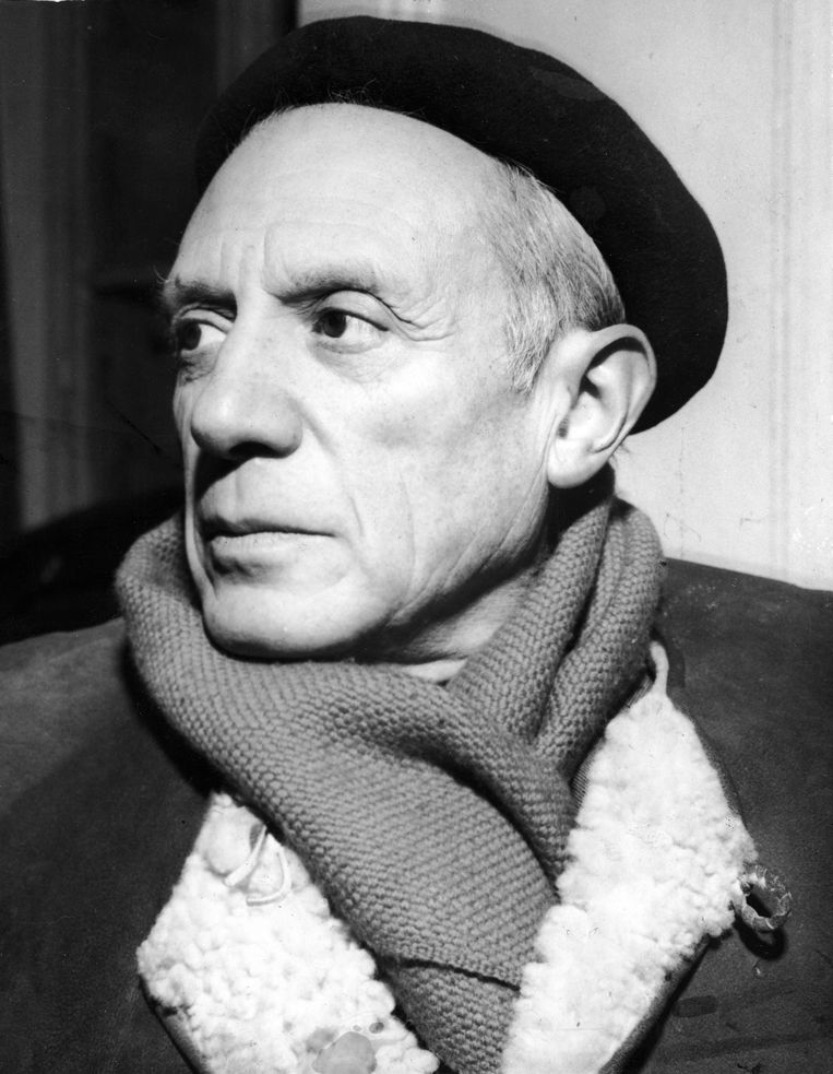 Pablo Picasso in 1950. Beeld Getty Images