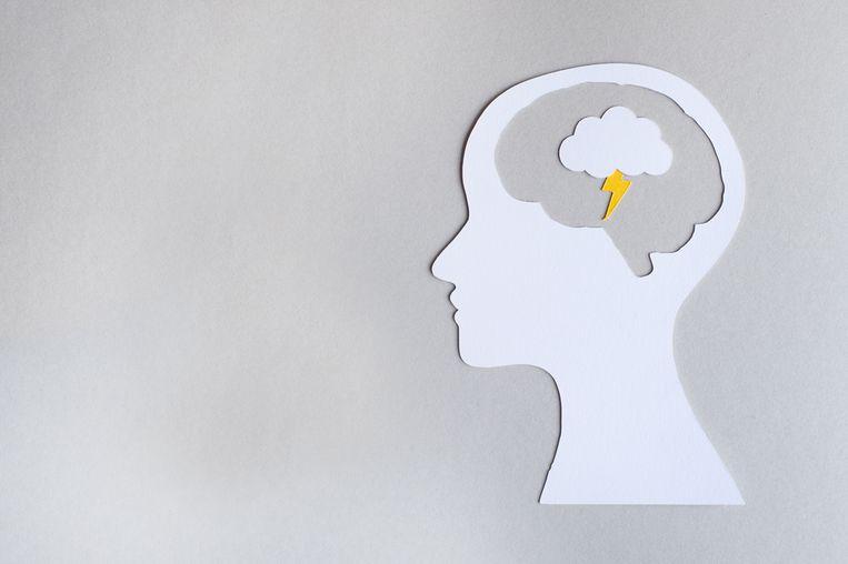 Paper-art Hoofdpijn Beeld Getty Images