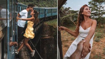 Raquel en Miguel gaan uit rijdende trein hangen voor perfecte foto, maar oogsten kritiek in plaats van 'likes'