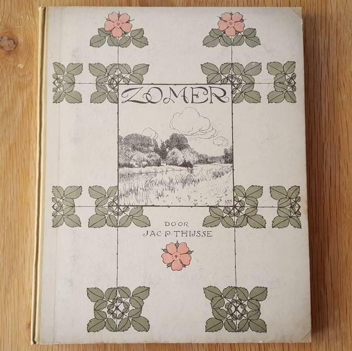 Verkade-album 'Zomer' uit 1907, Jac. P. Thijsse, een van de vier uitgaves uit de seizoenenreeks. Te koop bij Anton Siedsma op de Deventer Boekenmarkt.