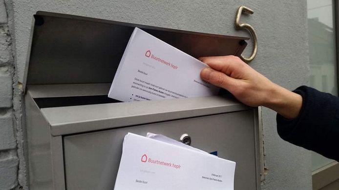 Hoplr breidde in de Guldensporenstad recent met de buurt Kortrijk West uit, waar alle inwoners een brief kregen.