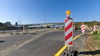 Afbraak en verhoging 2.200 ton zware brug over Albertkanaal