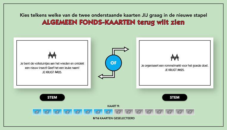 Monopoly wordt vernieuwd: de teksten op de Algemeen Fonds-kaarten worden aangepast. Beeld Monopoly