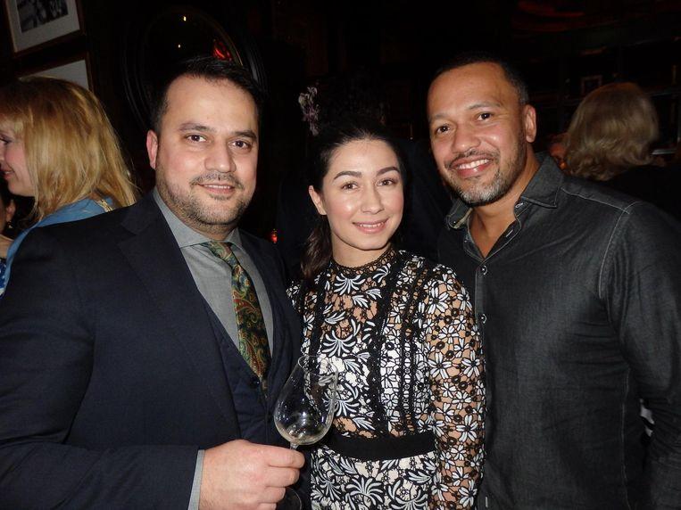 Hossein Akef (Persian Caviar), Burçin Dagli (Bonne Clé) en Rodney Leysner (Sparkel, vlnr) Beeld Schuim
