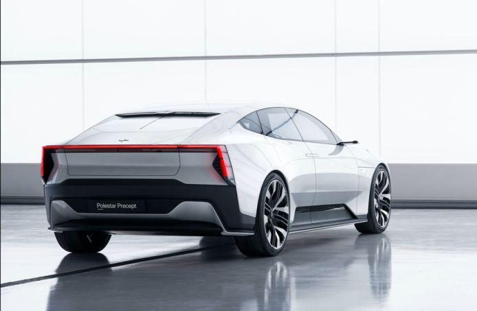 De - elektrische - productieversie van deze Polestar Precept komt binnen afzienbare tijd op de markt.