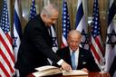 Netanyahu en Biden op archiefbeeld.
