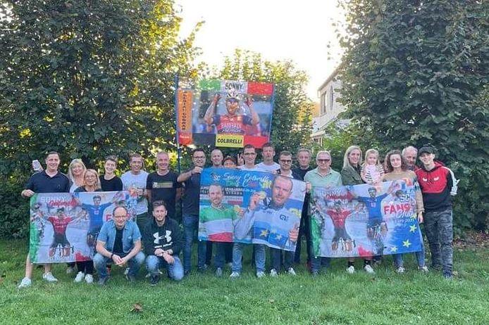 Familie en vrienden van huidige Europese en Italiaanse kampioen Sonny Colbrelli kozen B&B Den Dotter in Aaigem als uitvalsbasis voor het WK wielrennen in ons land.