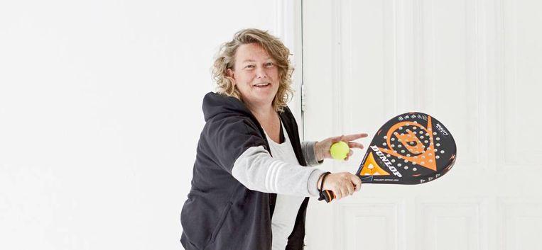 Sabine (50) ontdekte padel en werd in no time gevraagd voor het nationale 40+ team