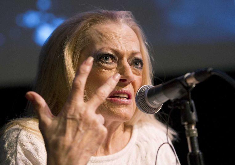 Anita Ekberg in filmmuseum Eye in Amsterdam, in 2013. Beeld anp