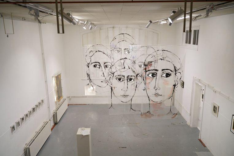 Expositie Doorzicht met werk van Matt Chaim de Groot en Zwier Cornelissen, 2019.   Beeld Jonathan de Waart