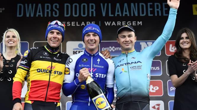 Yves Lampaert schenkt 'dream team' van Lefevere zege in Dwars door Vlaanderen, Gilbert (2de) maakt feestje compleet