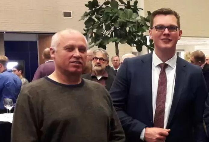 Jack Vaders (links) en Vincent Bosch vormden tot afgelopen week samen de PVV-fractie op Tholen.