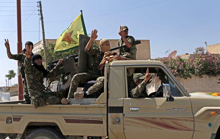 Leden van de Koerdische YPG-militie. Beeld ANP