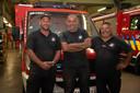 Mike Lampaert, Tony Van De Velde, Alain Verbeke et Wim Raes (pas sur la photo) se sont rendus à Pepinster pour aider.