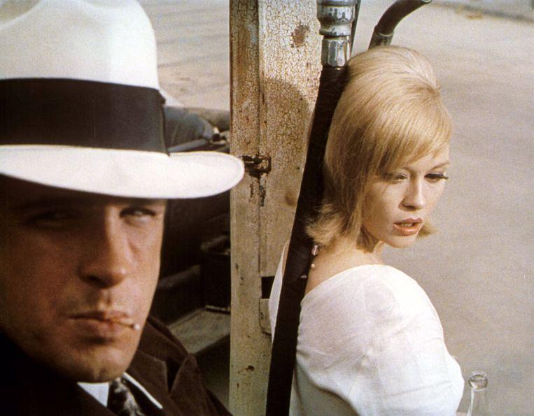 Warren Beatty en Faye Dunaway in Bonnie and Clyde van Arthur Penn. Beeld