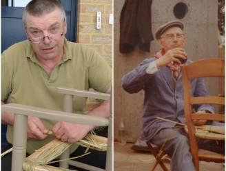 """REEKS UITSTERVEND RAS. """"Grootvader op sterfbed beloofd zijn werk voort te zetten"""": Dirk (58) vlecht stoelen met de hand"""