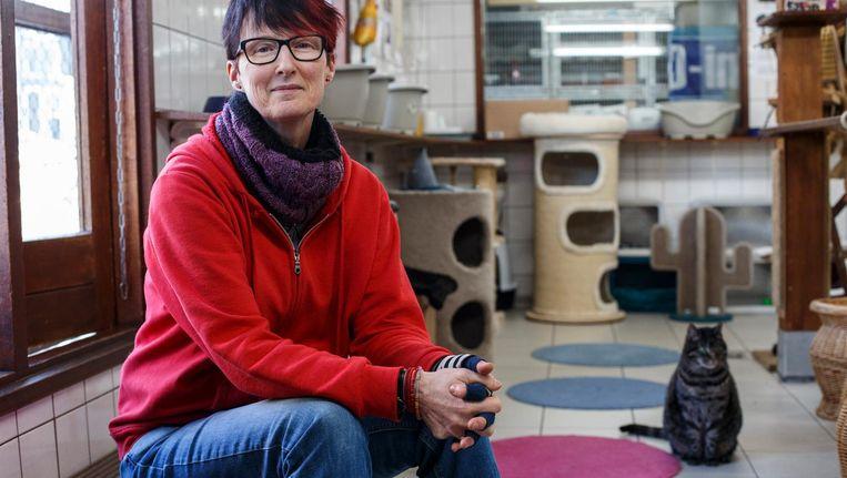 Judith Gobets van de Poezenboot: 'Komen er handhavers om te controleren of katten een chip hebben?' Beeld Carly Wollaert