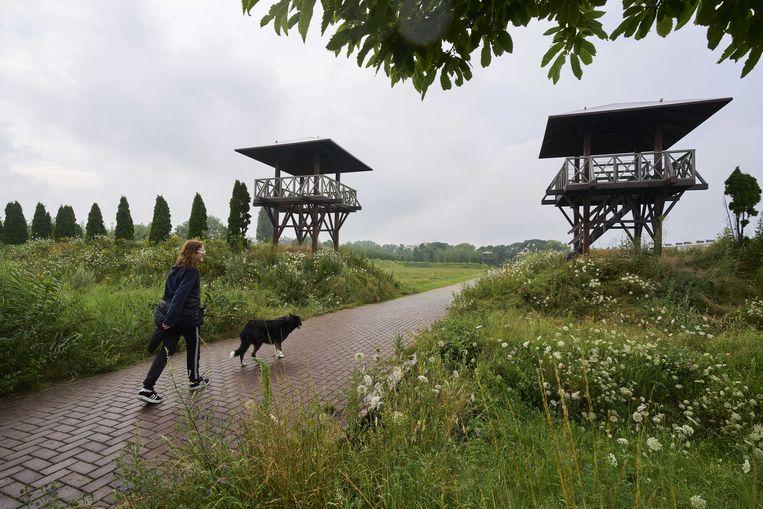 Park Matilo in Leiden, een reconstructie van een verdedigingsfort dat onderdeel was van de Romeinse Limes. Beeld ANP