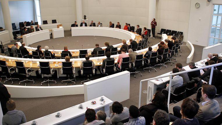 De vergadering van de Haagse gemeenteraad. © ANP Beeld