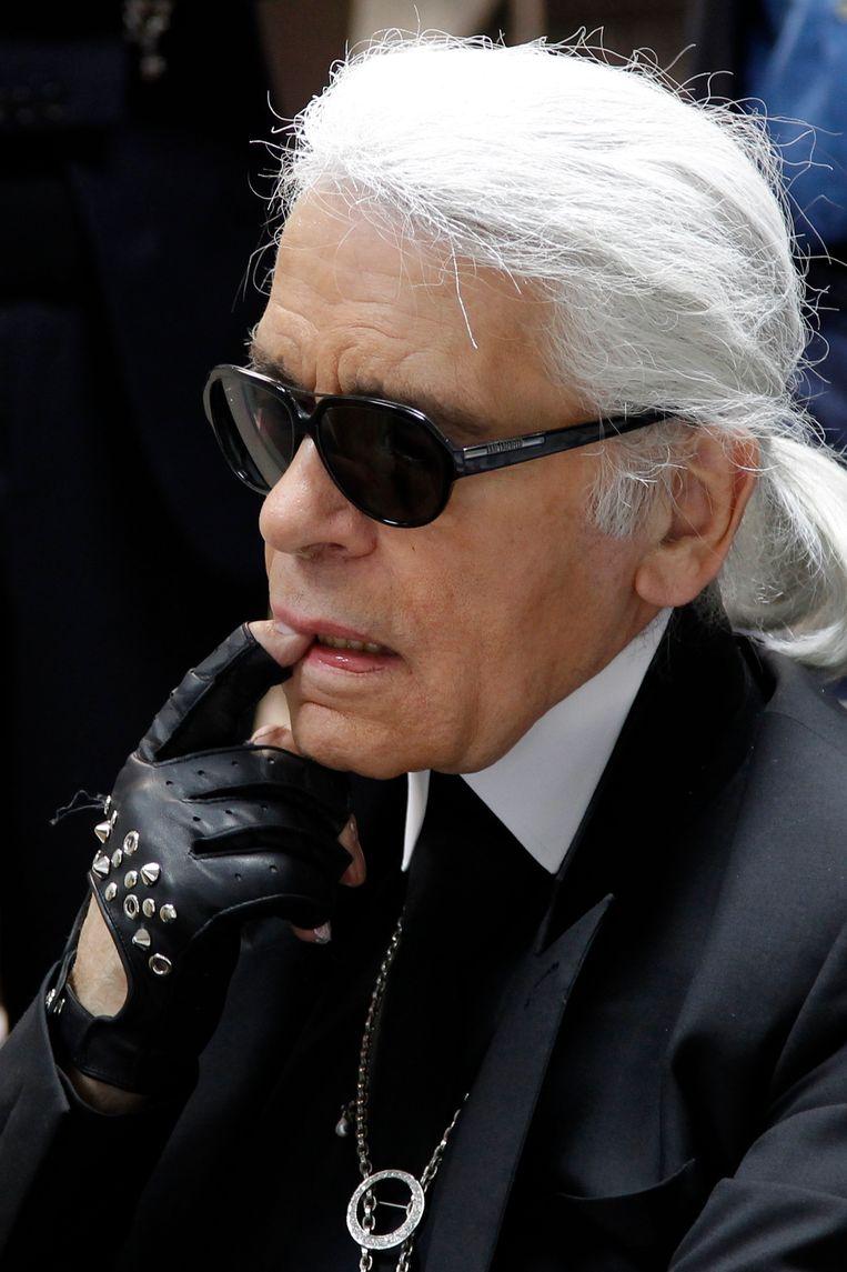 Karl Lagerfeld. Beeld reuters