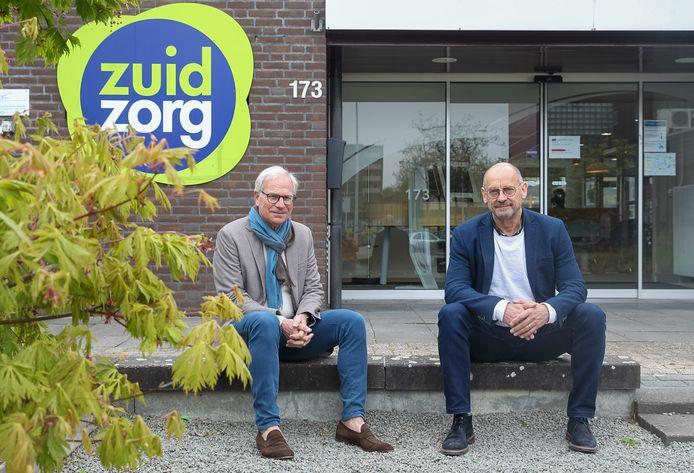 Bestuurder Charles Laurey (l) en projectleider Toon van de Looy van ZuidZorg.