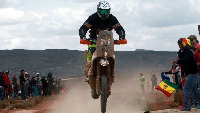 De Australiër Toby Price haalde zijn gram in de Dakar. Beeld EPA
