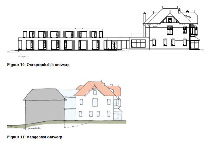 Tekeningen van de nieuwe villa Richmond.