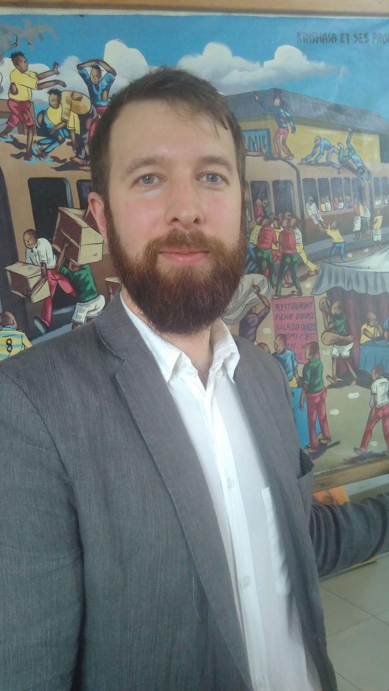 Pieter-Jan Hamels van 11.11.11 verblijft momenteel in Kinshasa. Beeld rv