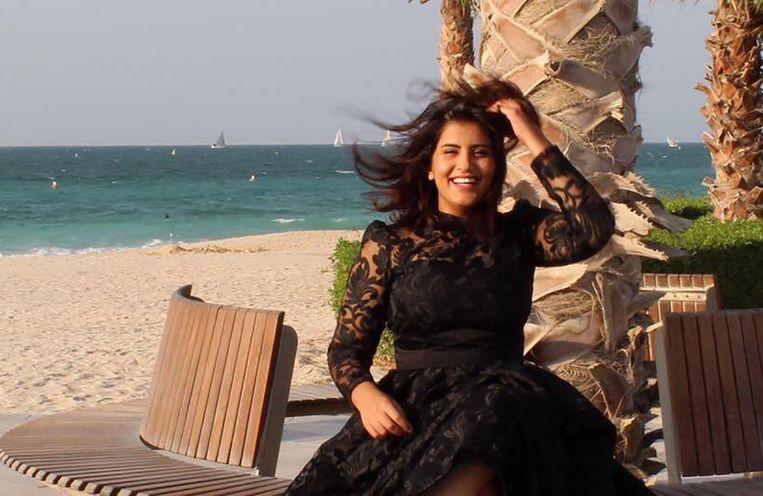 Loujian al-Hathoul op een foto van haar Facebookpagina. De vrouwenrechtenactivist werd veroordeeld op 'valse aanklachten', aldus  mensenrechtenspecialisten van de Verenigde Naties.  Beeld AFP