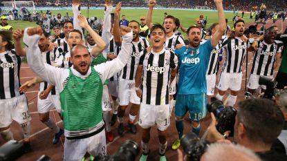 Juventus kroont zich voor zevende keer op rij tot Italiaanse landskampioen, Nainggolan pakt rood
